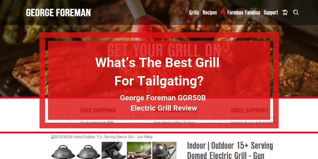 George Foreman GGR50B Electric Grill Review