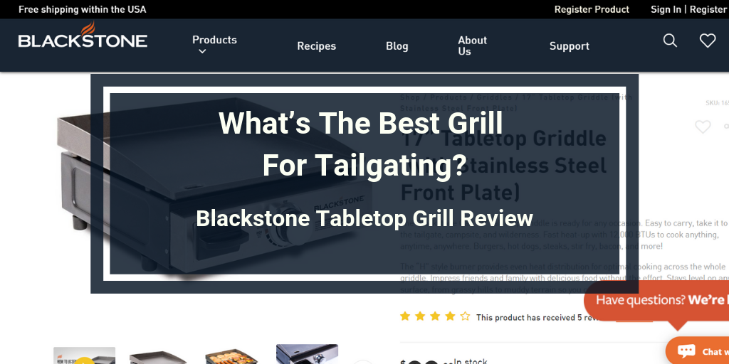 Blackstone Tabletop Grill Review