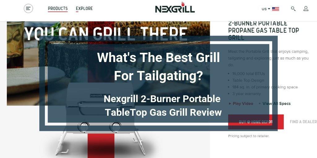 Nexgrill 2-Burner Portable TableTop Gas Grill Review