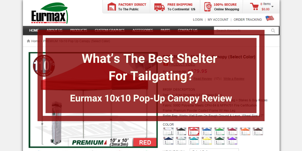 Eurmax 10x10 Pop-Up Canopy Review