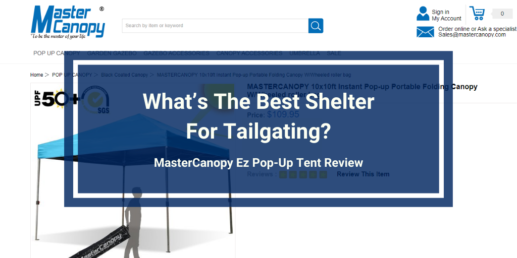 MasterCanopy Ez Pop-Up Tent review