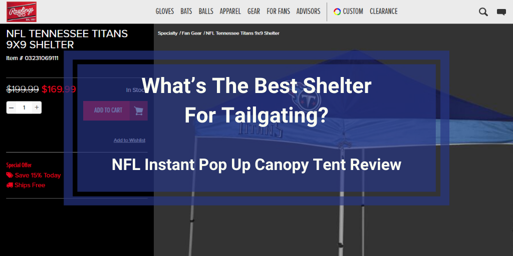 NFL Instant Pop Up Canopy Tent Review