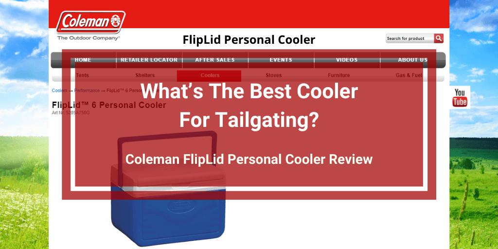 Coleman FlipLid Personal Cooler Review